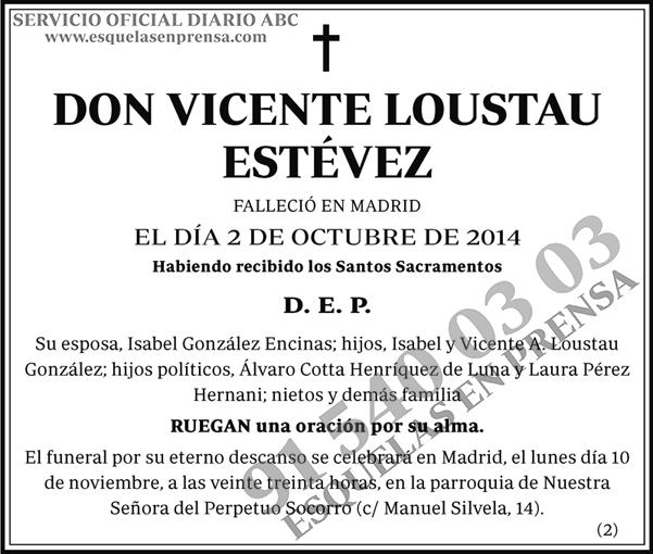 Vicente Loustau Estévez